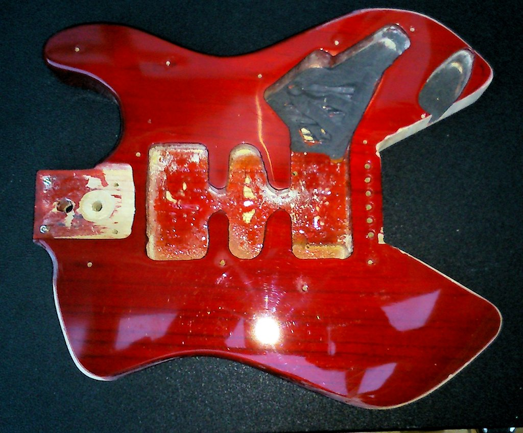 Diy Travel Guitar Project Ultimate Pignose Strat Wiring Diagram And Finally For This Installment I Re Styled The Headstock Which Saves A Couple Of Inches